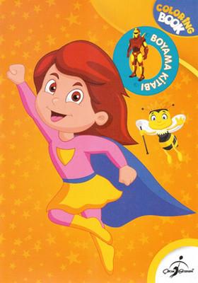 Süper Kız Boyama Kitabı