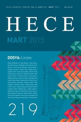 Hece Aylık Edebiyat Dergisi Sayı: 219