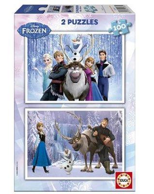 Educa 15767 Frozen İkili 100'er Parça Puzzle