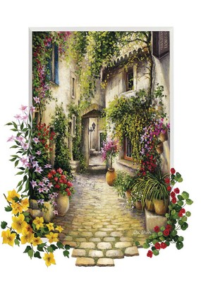 Art Puzzle Çiçekli Ara Sokak In The Small Flower Vil 4189 500 Lük