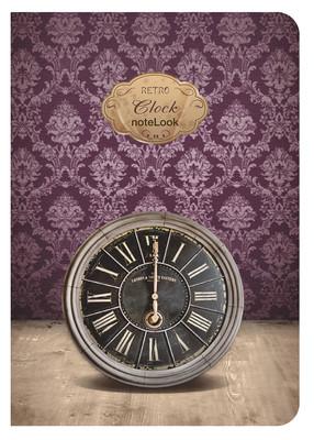 Notelook Retro Clock A6 Çizgili Defter