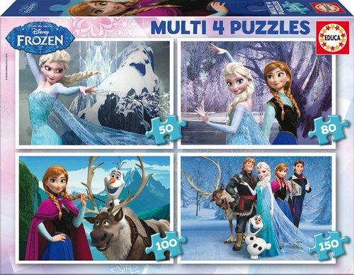 Educa 16173 Frozen Dörtlü Puzzle Seti