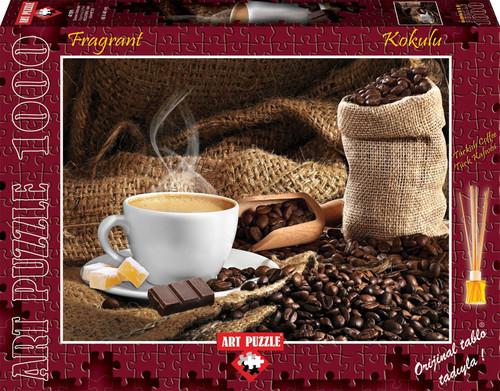 Art Puzzle Dumani Üstünde Kokulu Puzzle 1000 Lik 4191 (Kahve Kokusu)