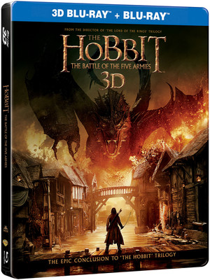 Hobbit:The Battle Of The Five Armies Steel Book-Hobbit:Bes Ordunun Savasi 3D BD+2D BD