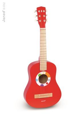 Janod Confetti Big Red Guitar - Gitar 6 Telli - 76Cm J07623