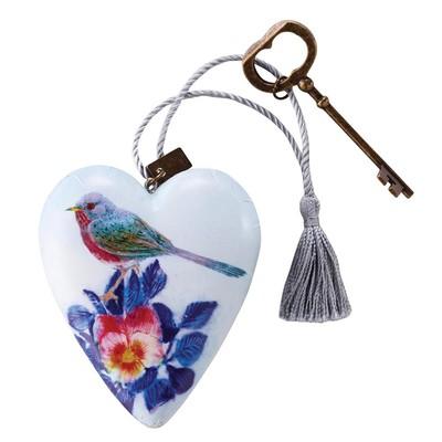 Art Heart Floral Bird