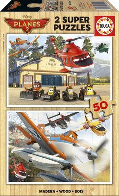 Educa Puzzle Çocuk 2 X 50 Planes Fire Rescue 15959 Ahsap
