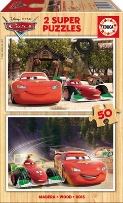 Educa Puzzle Çocuk 2 X 50 Cars 16372 Ahşap