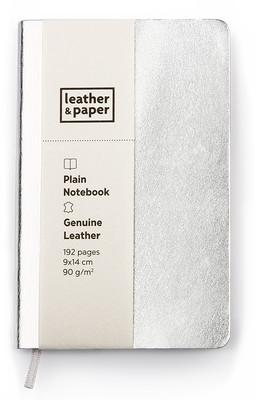 Leather & Paper Gümüş Deri Defter 9x14