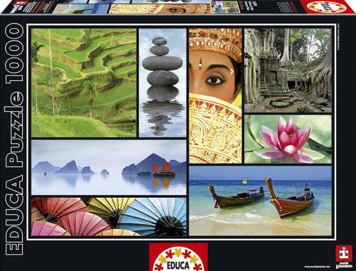 Educa Puzzle Colours Of Asia 1000 16294