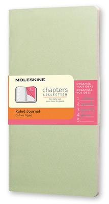 Moleskine Chapters Slim Cep Çizgili Açık Yeşil Renk Günlük Defter