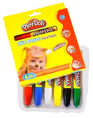 Play-Doh Yüz Boyasi 6 Renk (Karton) Play-Yu003