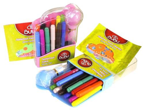 Bu-Bu Püskürtmeli Kalem 12 Renk