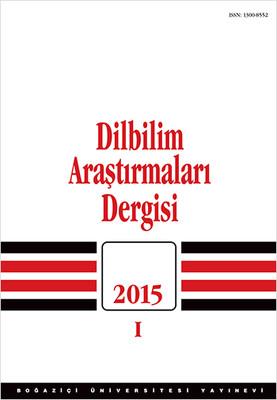 Dilbilim Araştırmaları 2015 / 1