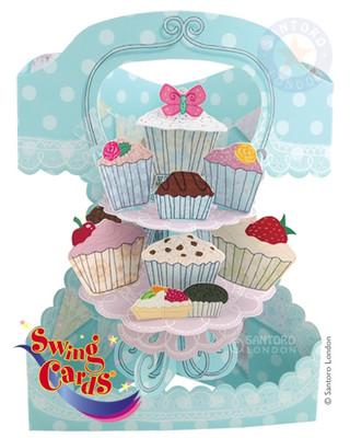 Santoro Gc-Swing Card-Celebration Cakes Sc113