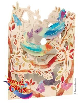 Santoro Gc-Swing Cards-Birds And Butterflies Sc123