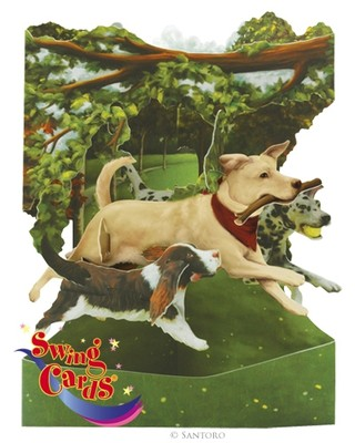 Santoro Gc-Swing Cards-Dogs In The Park Sc135