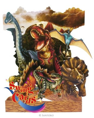 Santoro Gc-Swing Cards-Dinosaurs Sc145