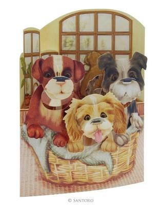Santoro Gc-Swing Cards-Puppies In A Basket Sc150