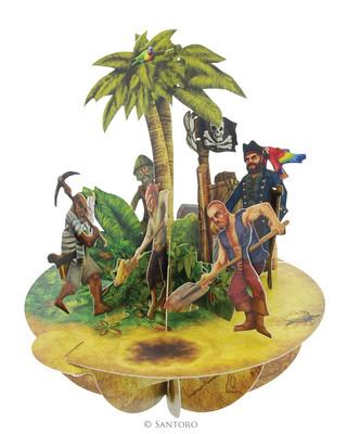 Santoro Gorjuss Pirouettes Treasure Island 3D Kart Ps028