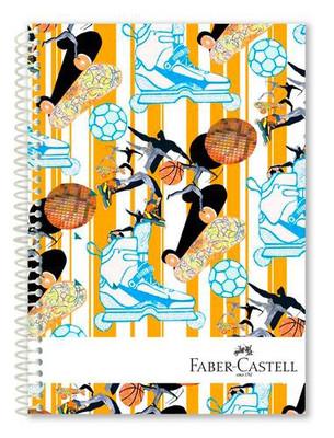 Faber-Castell Spor Sert Kapak Seperatörlü  Defter 120YP  5075400311