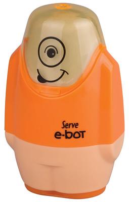 Serve E-Bot Silgili Kalemtıraş Fosforlu Turuncu