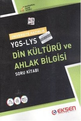Eksen YGS-LYS Din Kültürü ve Ahlak Bilgisi Soru Kitabı