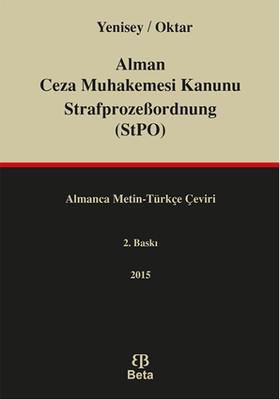 Alman Ceza Muhakemesi Kanunu StrafprozeBordnung StPO