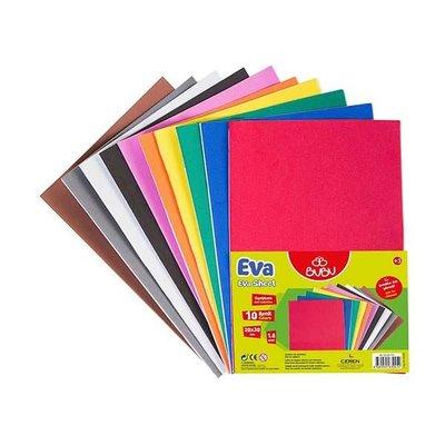 Bu-Bu  Eva A4 Yapıskanlı 2Mm 10 Renk