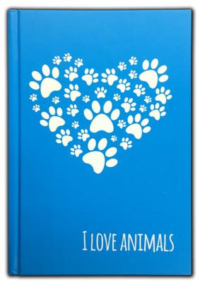 I Love Animals Defter (80 Yaprak, 14*20 Cm)