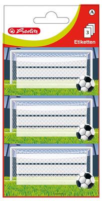 Herlitz Etiket Futbol 3lü 315