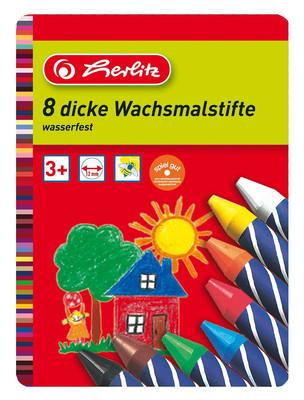 Herlitz Crayon Pastel Metal Kutu 8'li 712