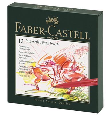 Faber Pitt Çizim Kalemi Firça Uç Studio Box, 12 Renk 5188167146