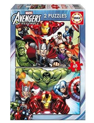Educa Çocuk Puzzle 2x48 Avengers 15932 Karton