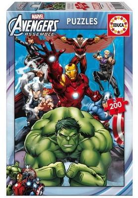 Educa Çocuk Puzzle 200 Avengers 15933 Karton