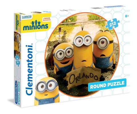 Clementoni Puzzle 212 Round Minions 21404