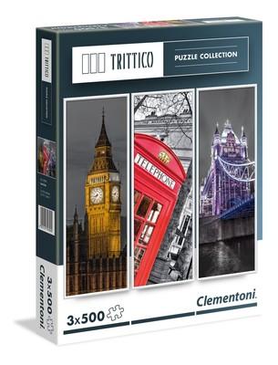 Clementoni 3X500 Parça Puzzle Trittico - London 39306