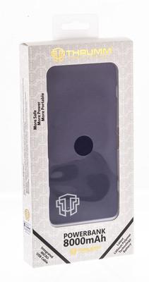 Thrumm Slim Design 8000 mAh Powerbank - Blue Sapphire