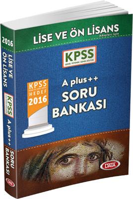 Data KPSS Lise-Önlisans A Plus++ Soru Bankası 2016