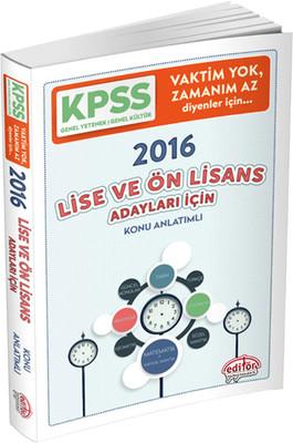 KPSS Lise ve Ön Lisans Vaktim Yok Zamanım Az Diyenler İçin Hızlı KPSS 2016