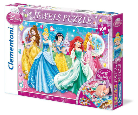 Clementoni Puzzle 104 Jewels Princess 20077
