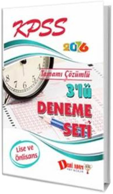 Dahi Adam KPSS Lise-Ön Lisans 3' lü Deneme Seti 2016
