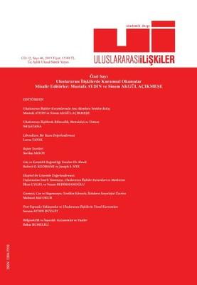 Uluslararası İlişkiler Dergisi Cilt: 12 Sayı: 46