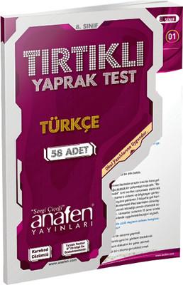 Anafen 8.Sınıf Türkçe Tırtıklı Yaprak Test 58 Yaprak