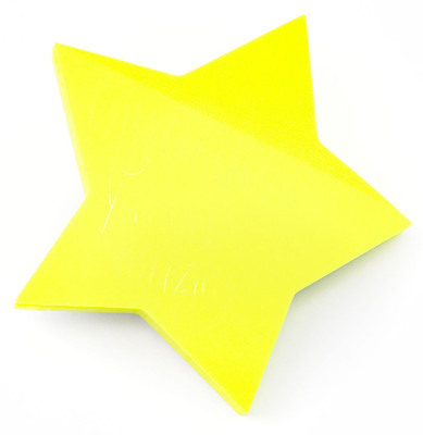 Suck Uk Transparent Star Sticky Notes - Yapışkanlı Not Kağıdı Transparan SK NOTESTAR1