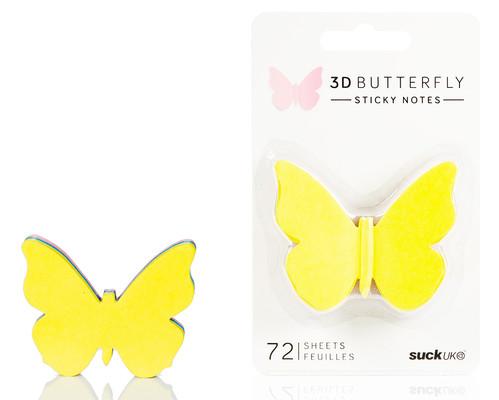 Suck Uk 3D Butterfly Sticky Notes - 3 Boyutlu Yapışkanlı Not Kağıdı SK NOTE3D BF1