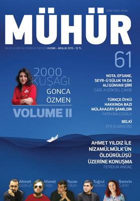 İki Aylık Şiir ve Edebiyat Dergisi Kasım - Aralık 2015 - Mühür Sayı: 61