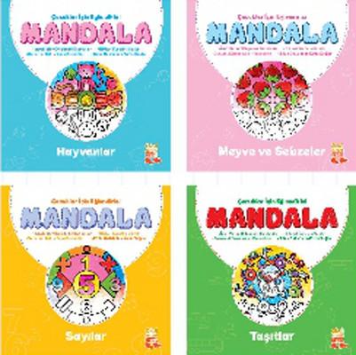 Çocuklar İçin Eğlendirici Mandala Set - 4 Kitap Takım