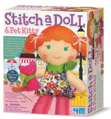 4M Stitch A Doll Pet Kitty