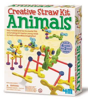 4M Creative Straw Kit Animals 4623